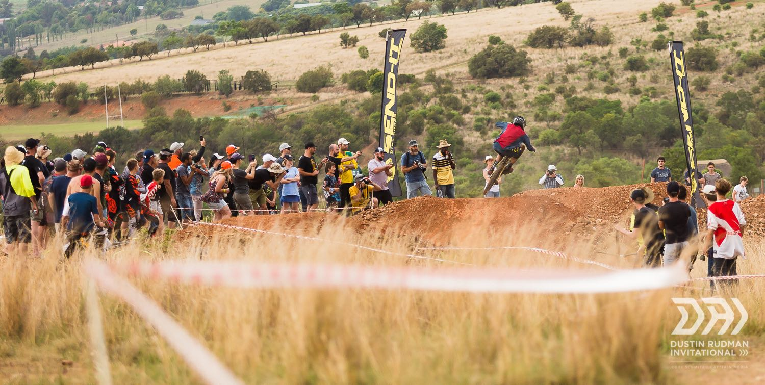 Spectators gathered to watch the Downhill MTB action at the final stop of the 2018 Dustin Rudman Invitational