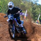 Riding our local motocross track while testing the new Fox Vue Goggles
