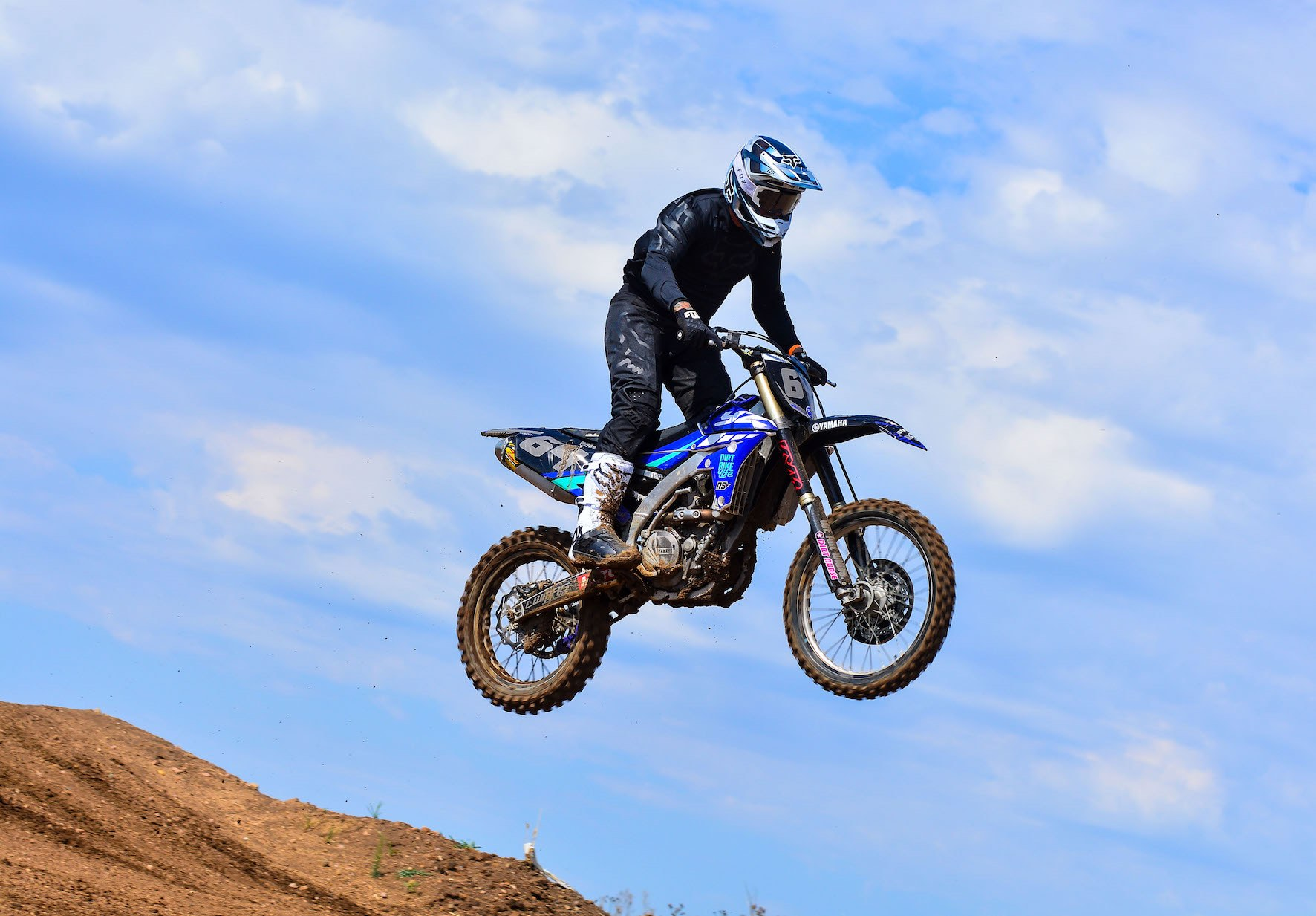 Putting the Fox V1 Helmet through its paces at the local MX track