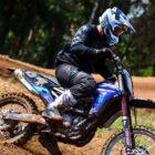 Riding with the new Fox V1 Motocross Helmet