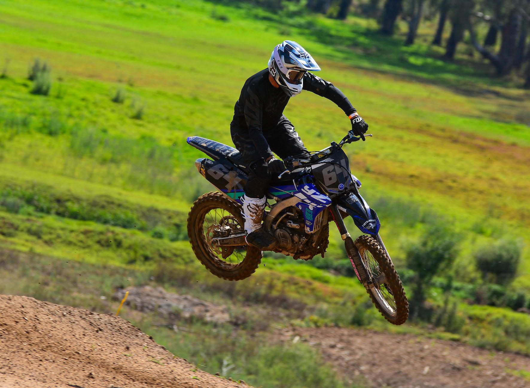 Enjoying the Fox Vue Goggles while out riding MX