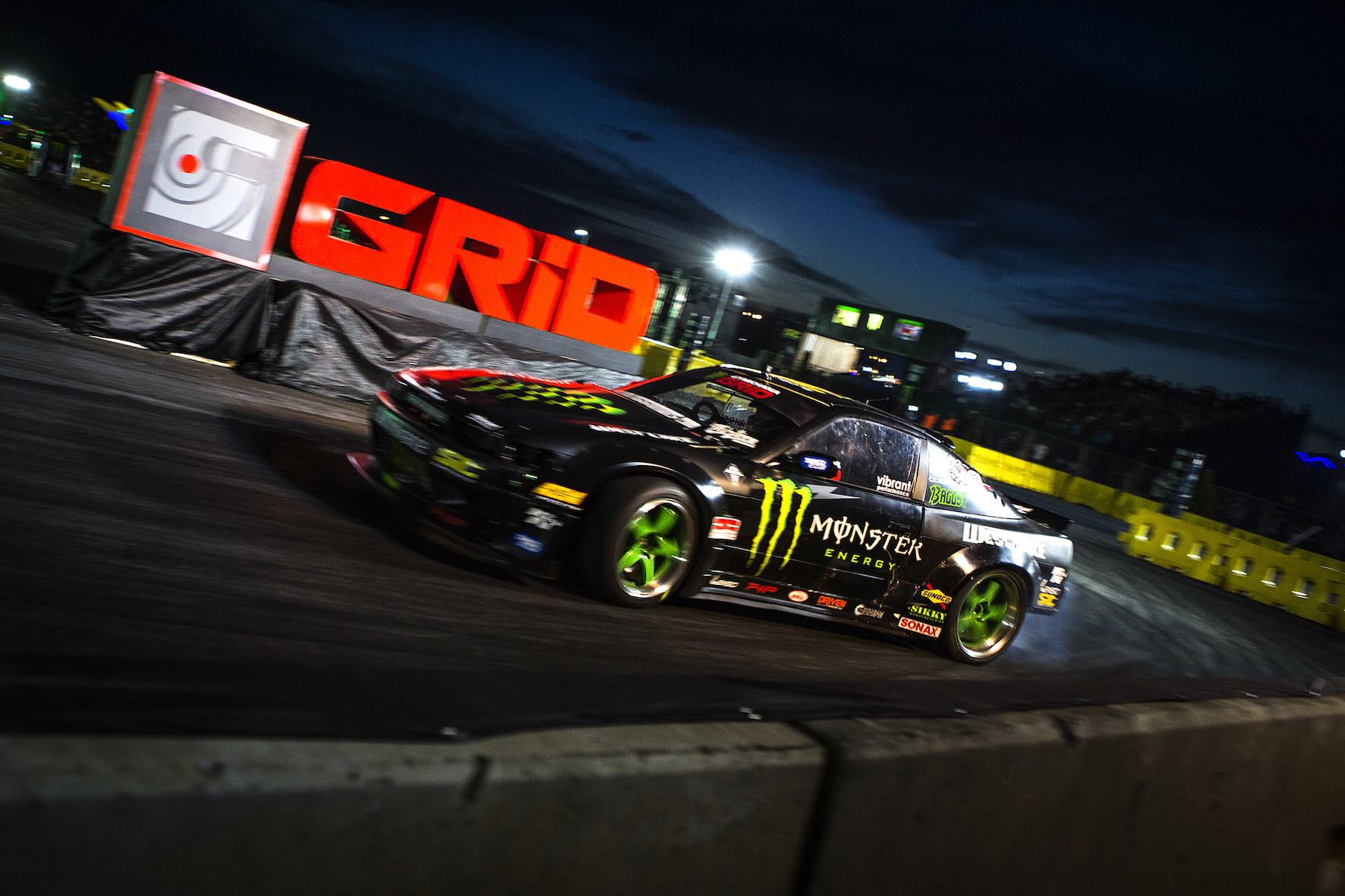 Steve Baggsy Biagioni competing at Gymkhana GRiD 2018