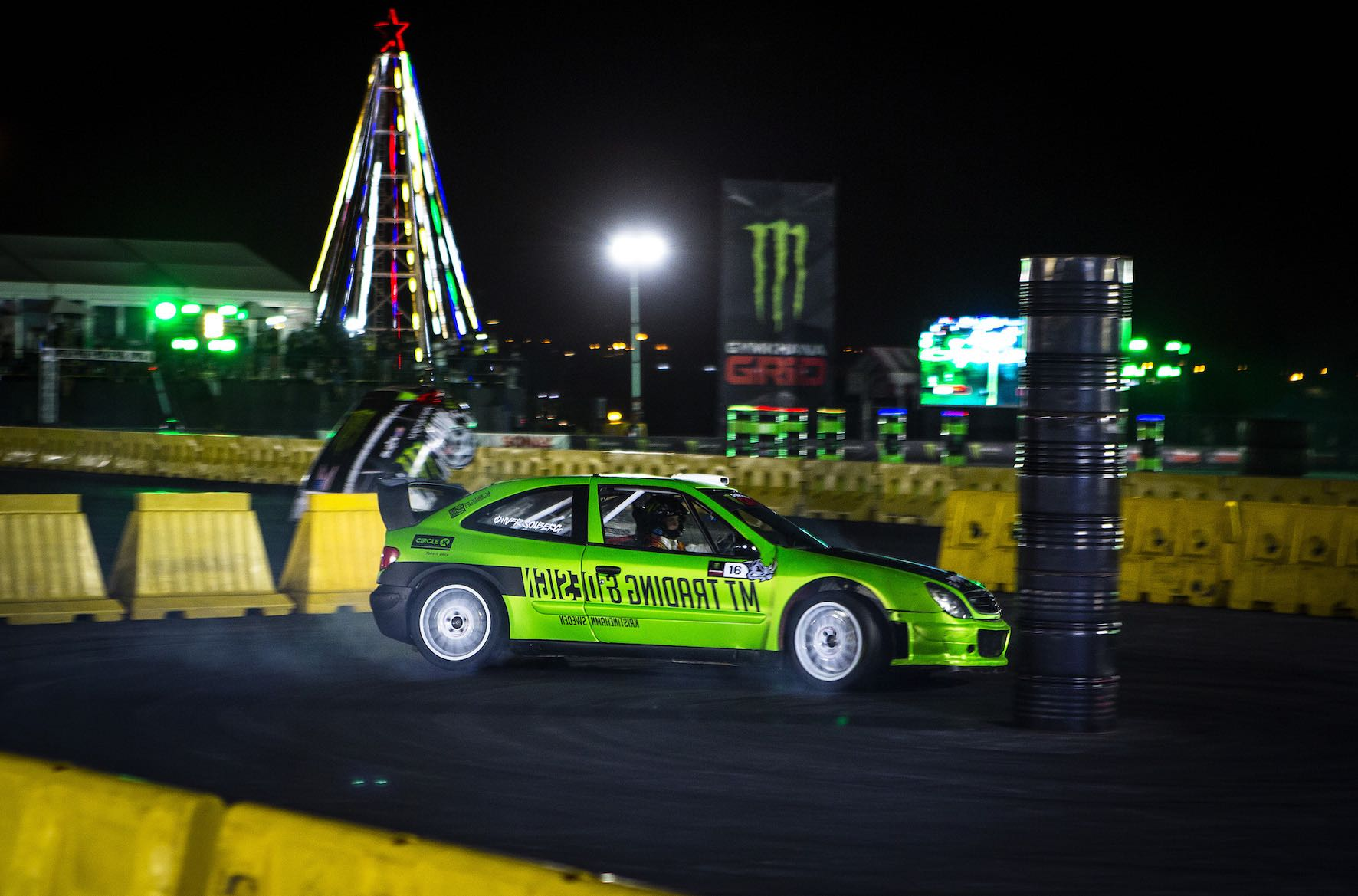Oliver Solberg claims the 3rd step of the AWD podium at Gymkhana GRiD 2018