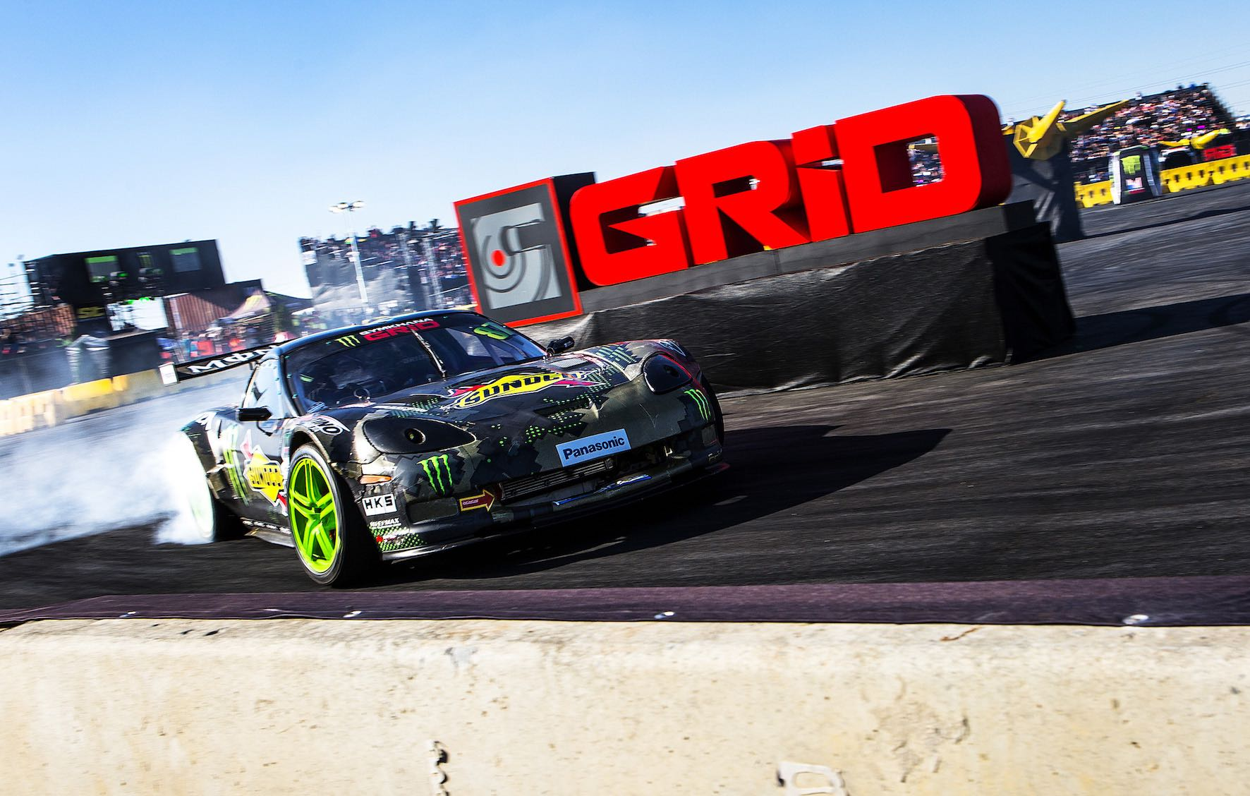Daigo Saito winning the RWD class at Gymkhana GRiD 2018