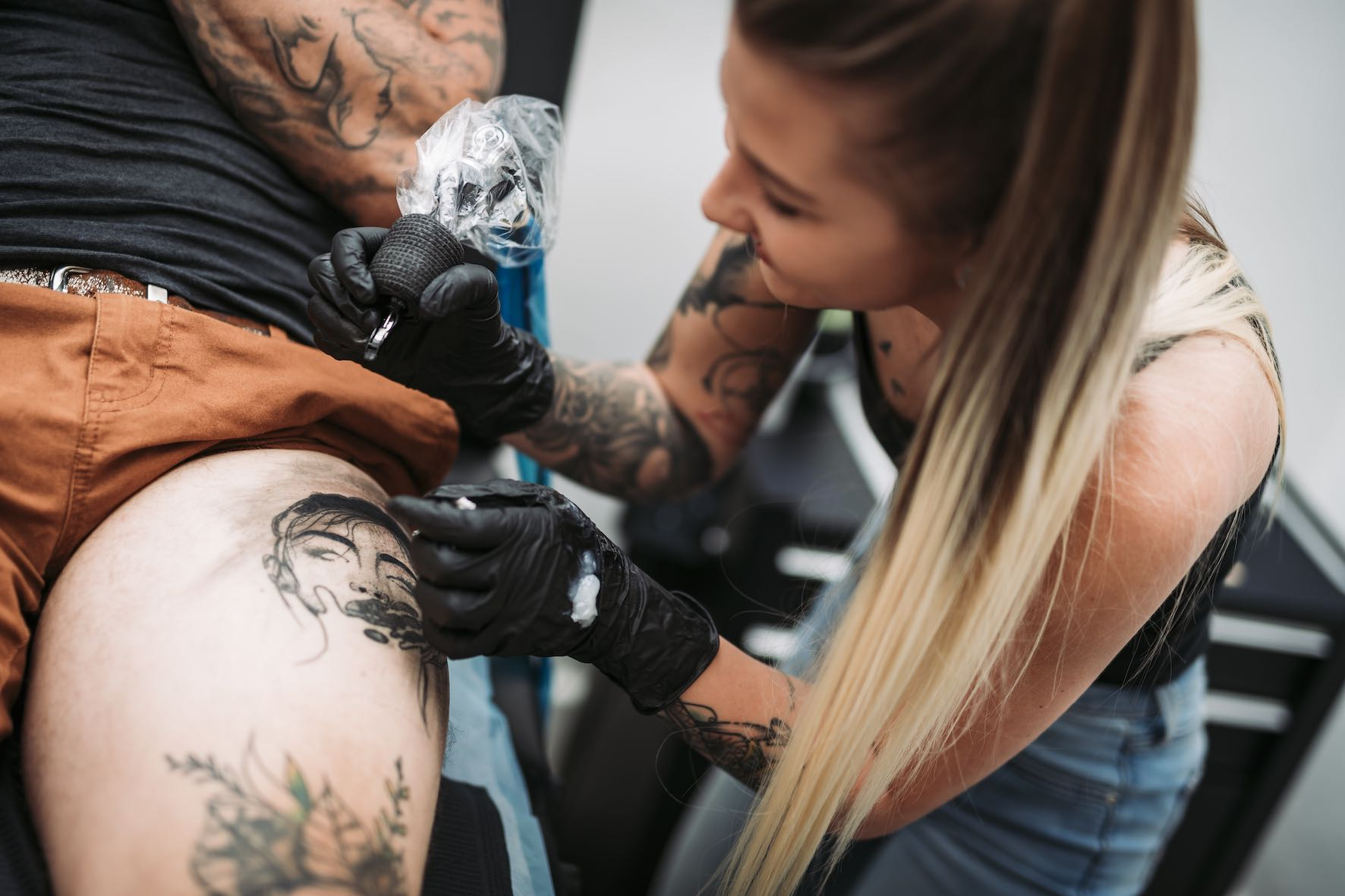 Bronwyn Washer working out of the Canvas Cultique tattoo shop in Parkhurst