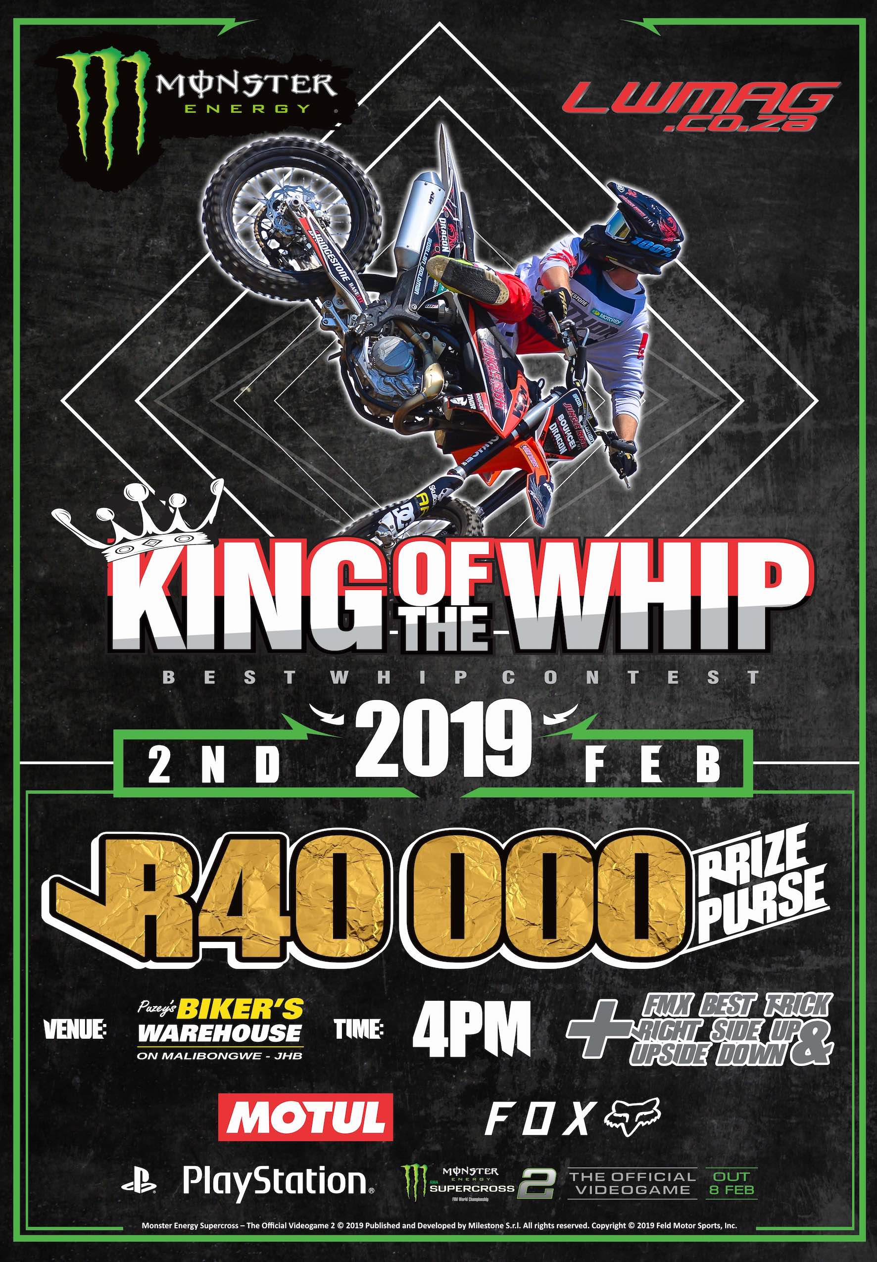 Announcing the 2019 King of the Whip Freestyle Motocross event
