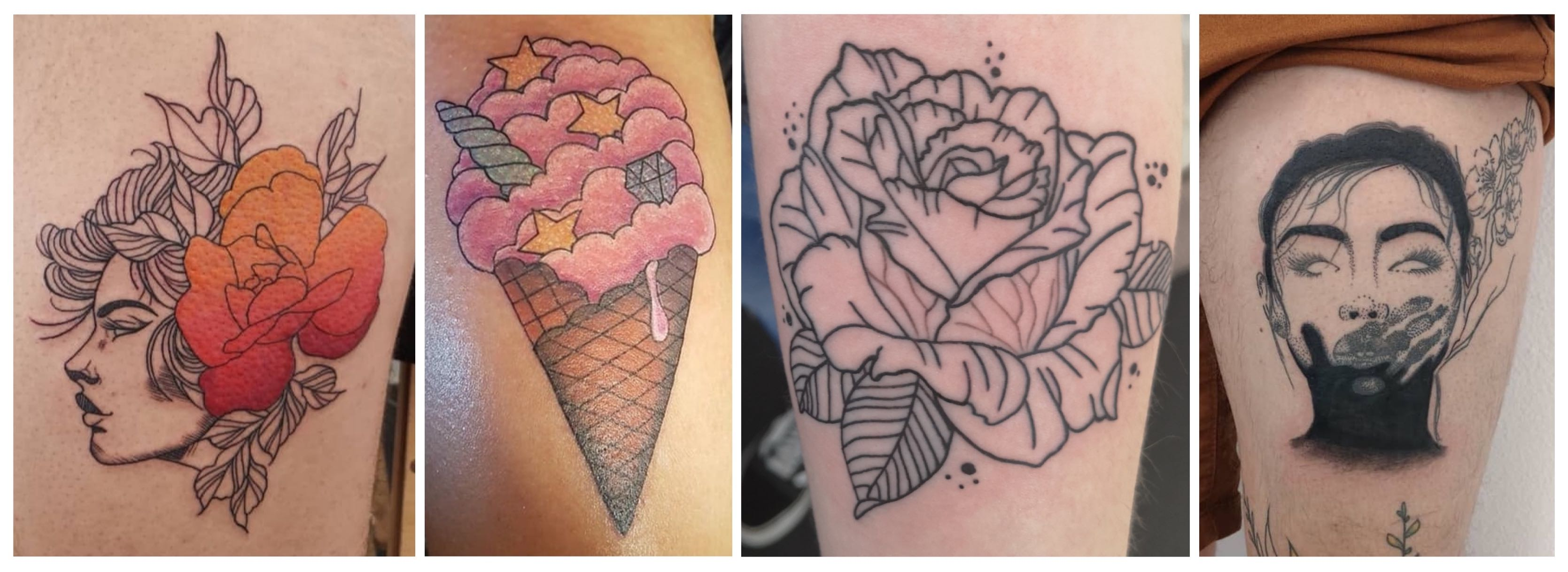 A selection of tattoos done by Bronwyn Washer