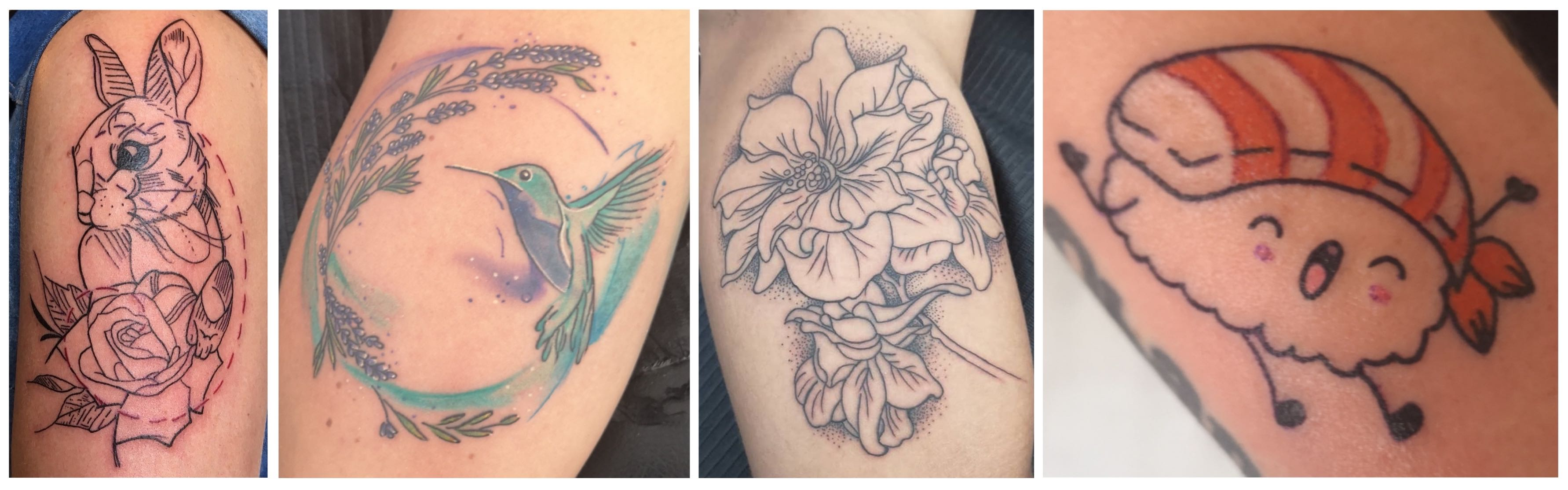Tattoos done by Bronwyn Washer