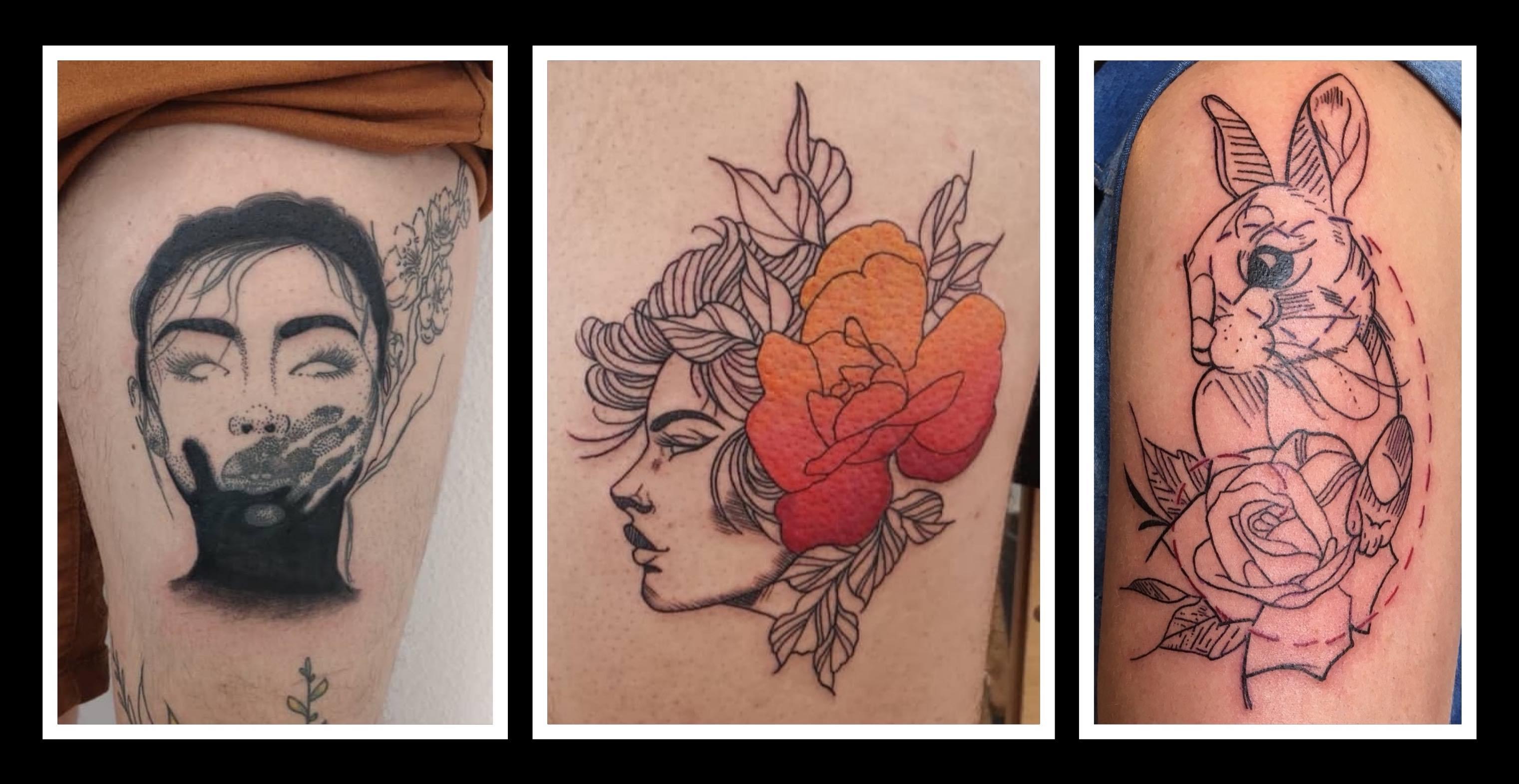 Tattoo work created by Bronwyn Washer