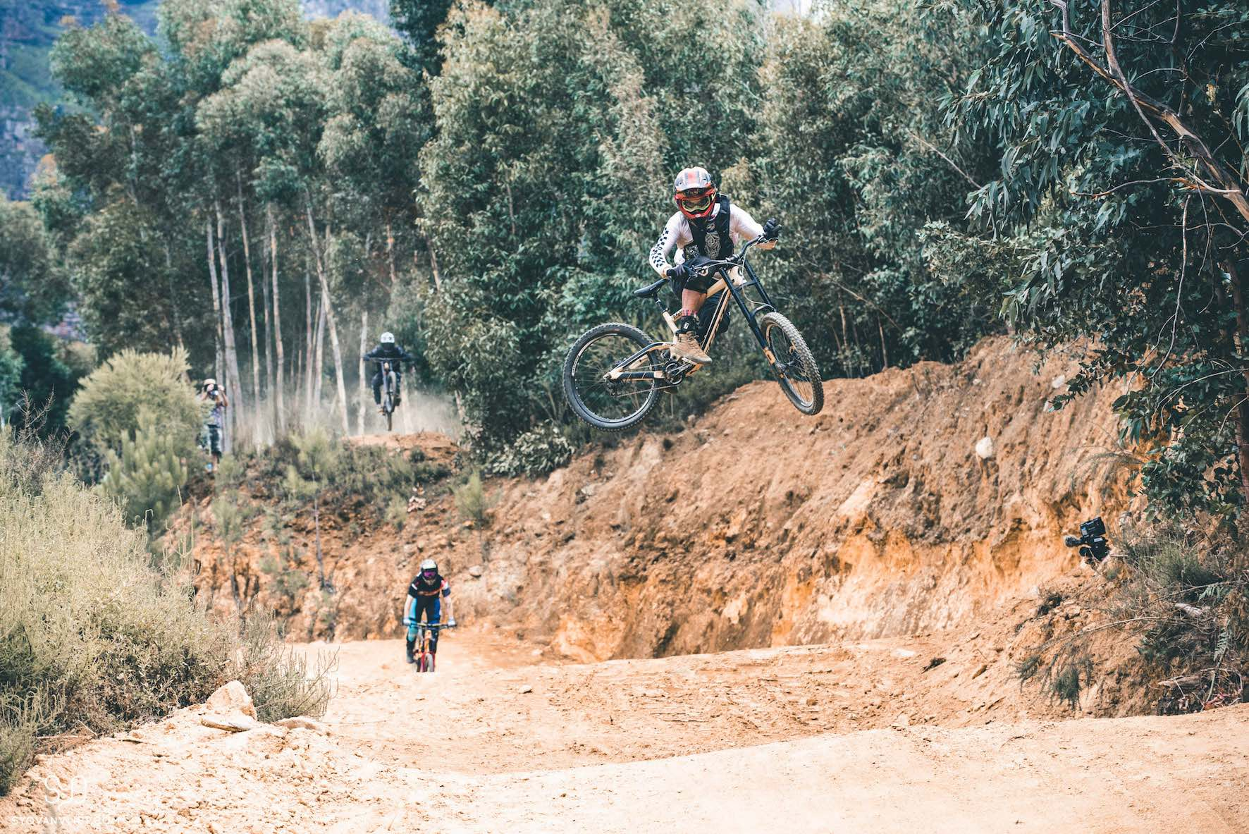 Freeride Mountain Bike master, Nico Vink riding at DarkFEST 2019
