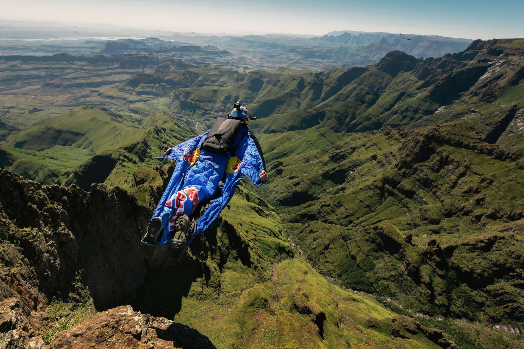 Barrier of spears flying wingsuits through the Drakensburg short film