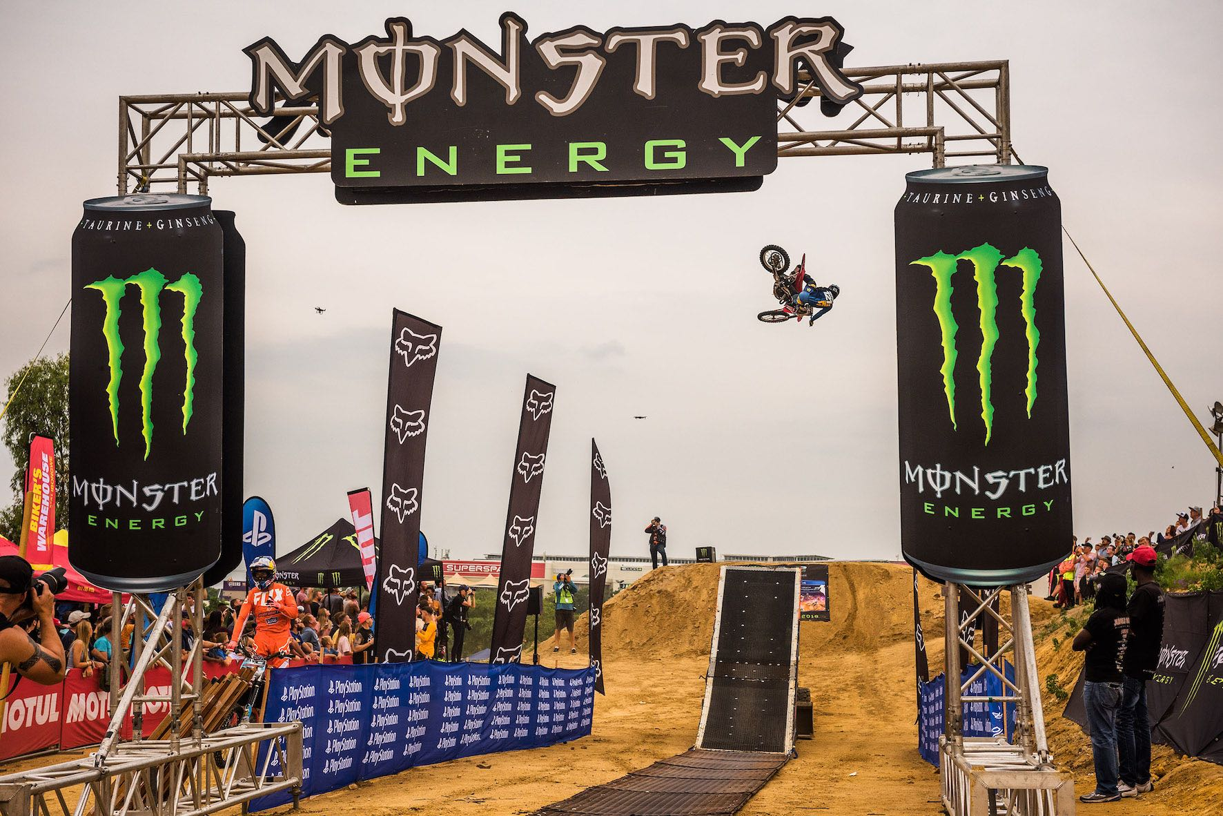Action from the 2019 King of the Whip motocross event
