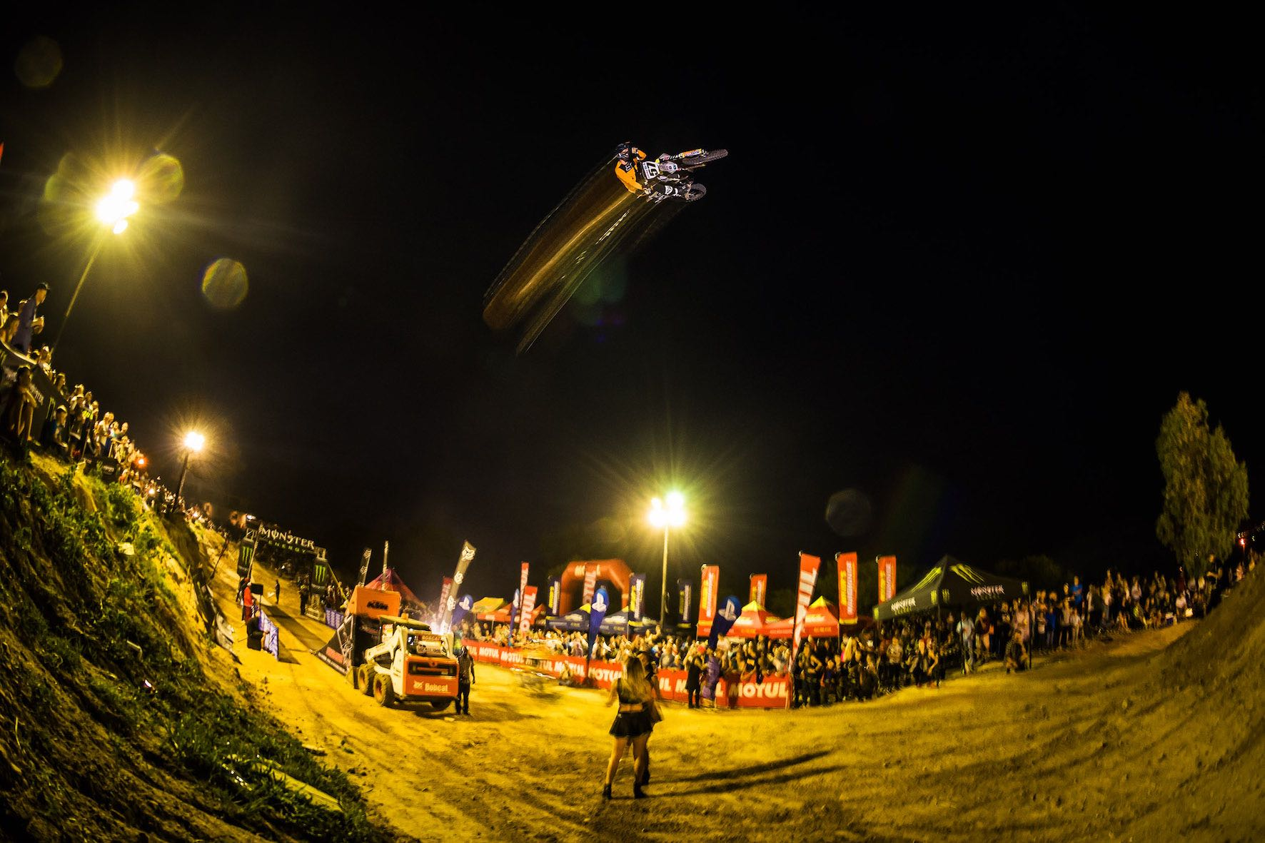 The night show at King of the Whip best whip MX contest