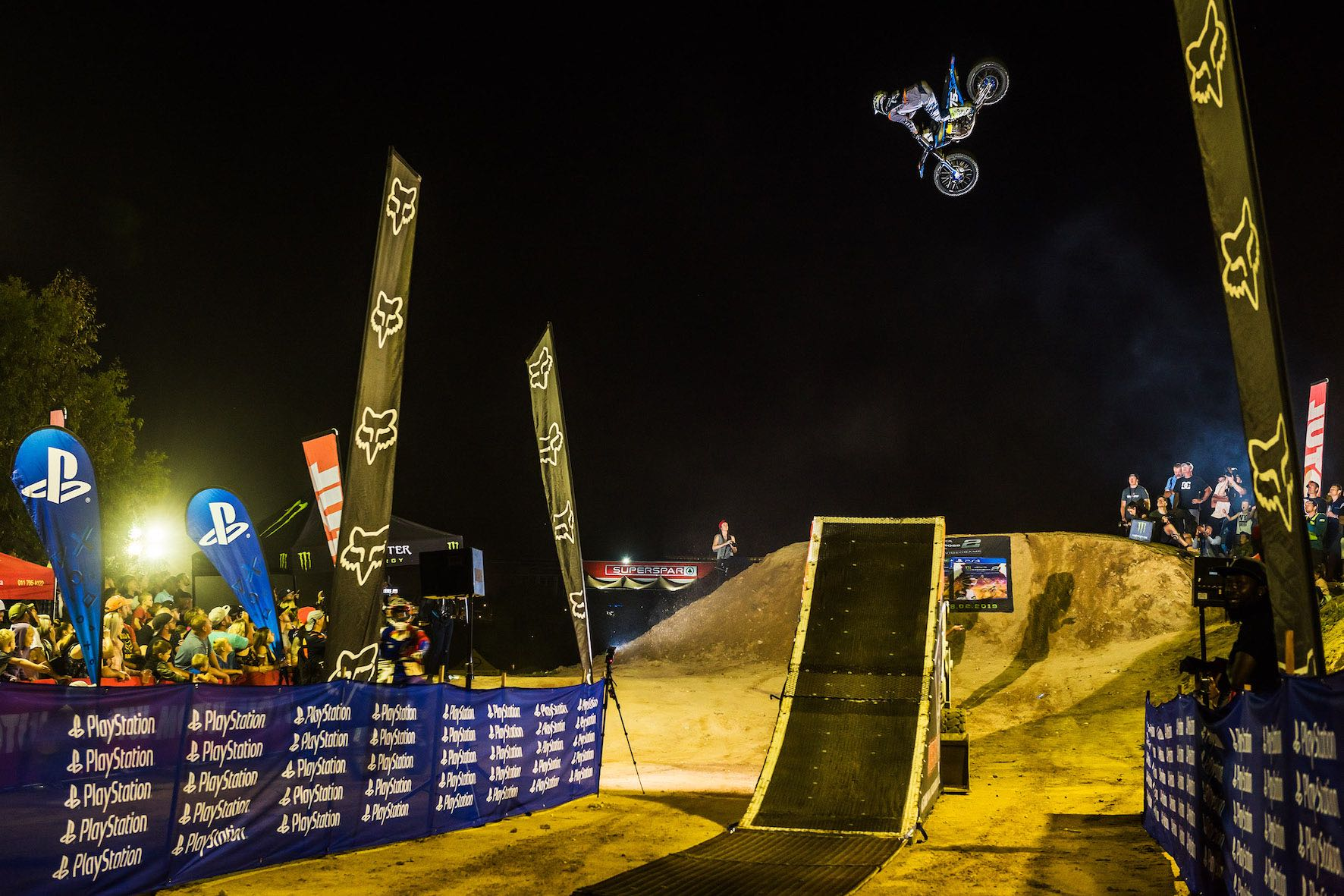 The night show at King of the Whip best whip freestyle motocross contest