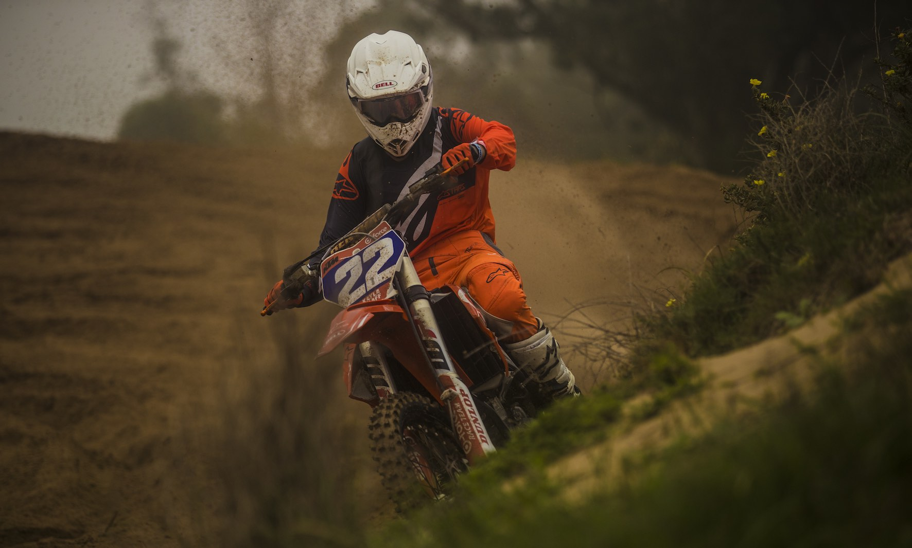 Kayla Raaf racing at Rover Raceway motocross track