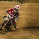 Niel van der Vyver racing in the 65cc class