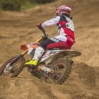 Cameron Durow racing to victory in the MX2 Class at Round 1 of the SA Motocross Nationals