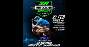 Details for Round 1 of the TRP Distributors South African National Motocross Championship taking place at Port Elizabeth's Rover Raceway.