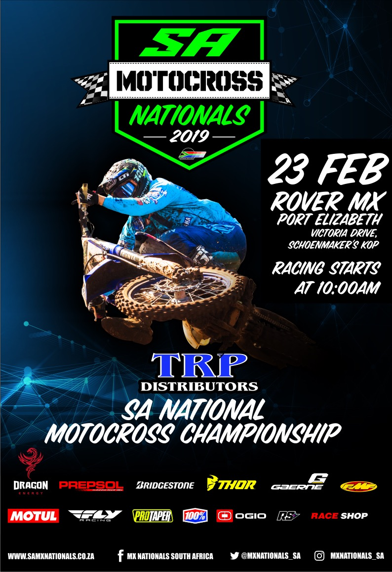 The time has finally come to kick off the 2019 National Motocross racing series. Round 1 of the TRP Distributors South African National Motocross Championship takes place at Port Elizabeth's Rover Raceway.
