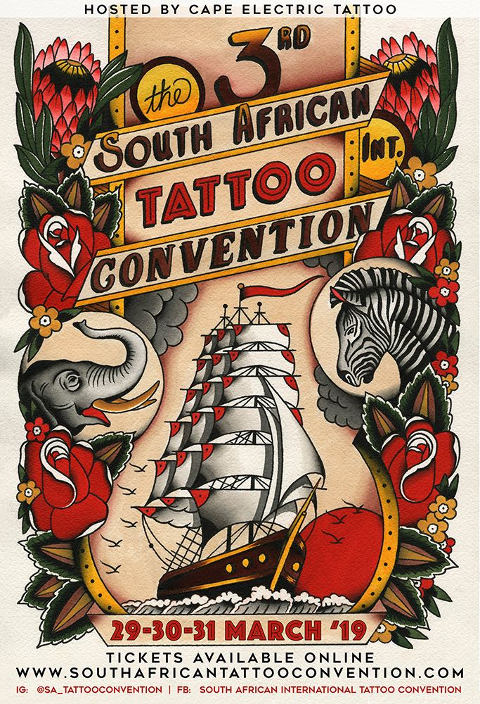 Details for the 2019 South African International Tattoo Convention taking place in Cape Town this March