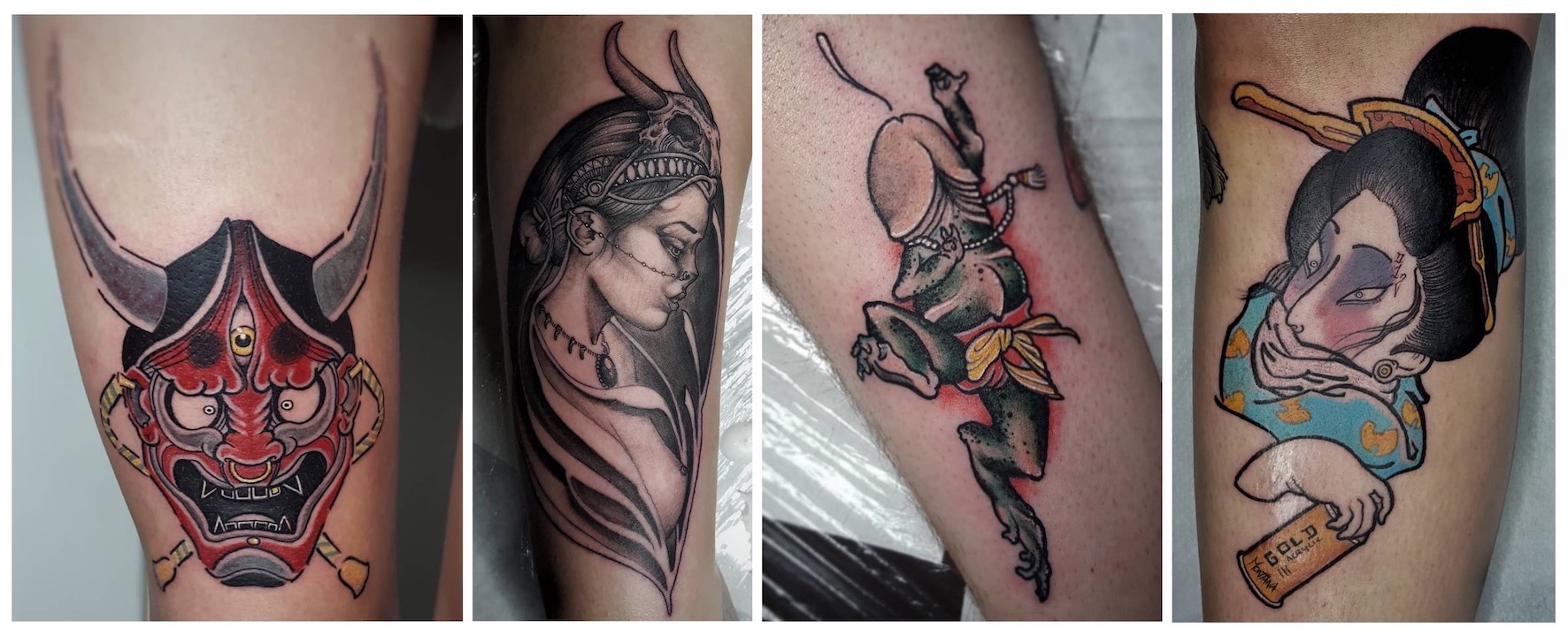 Tattoos done by Daniel Forster