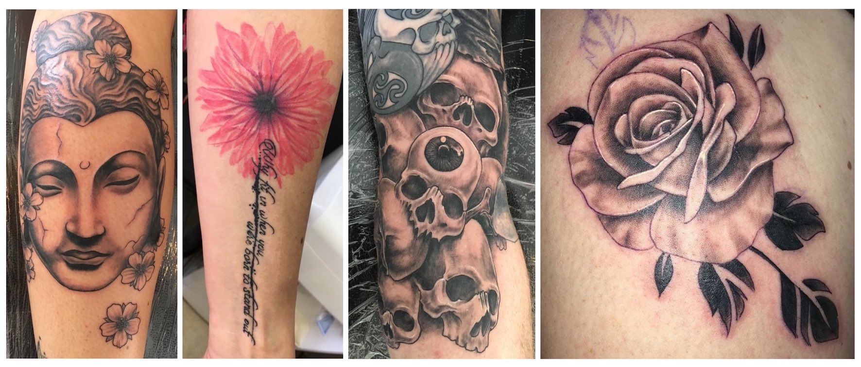 A selection of tattoos down by Christo Kleynhans