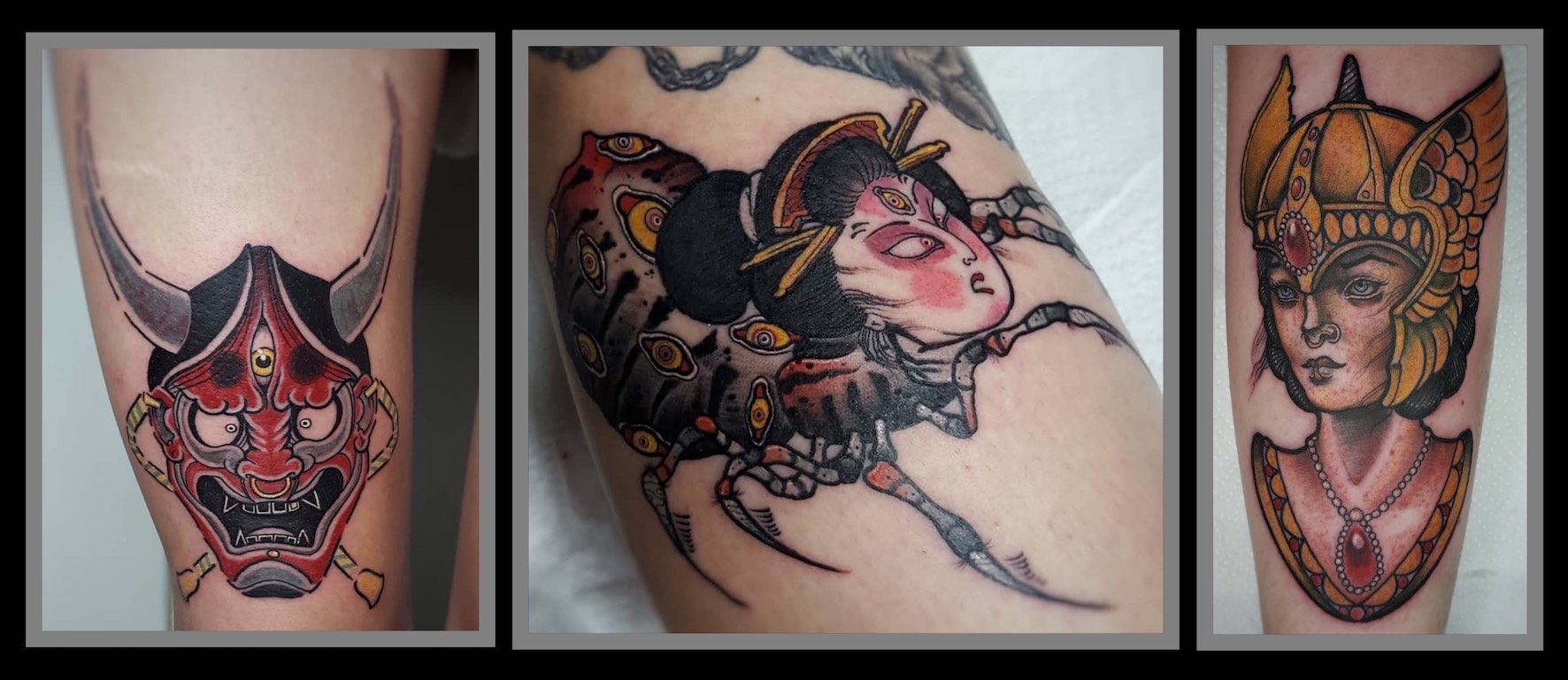 A selection of tattoo work done by Daniel Forster
