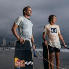 Brian Grubb and Matti Buys ready to wakeskate Durban's ironing beachfront locations