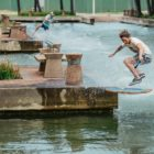 Wakeskating through the Durban Point canals for the Red Bull Reflections video