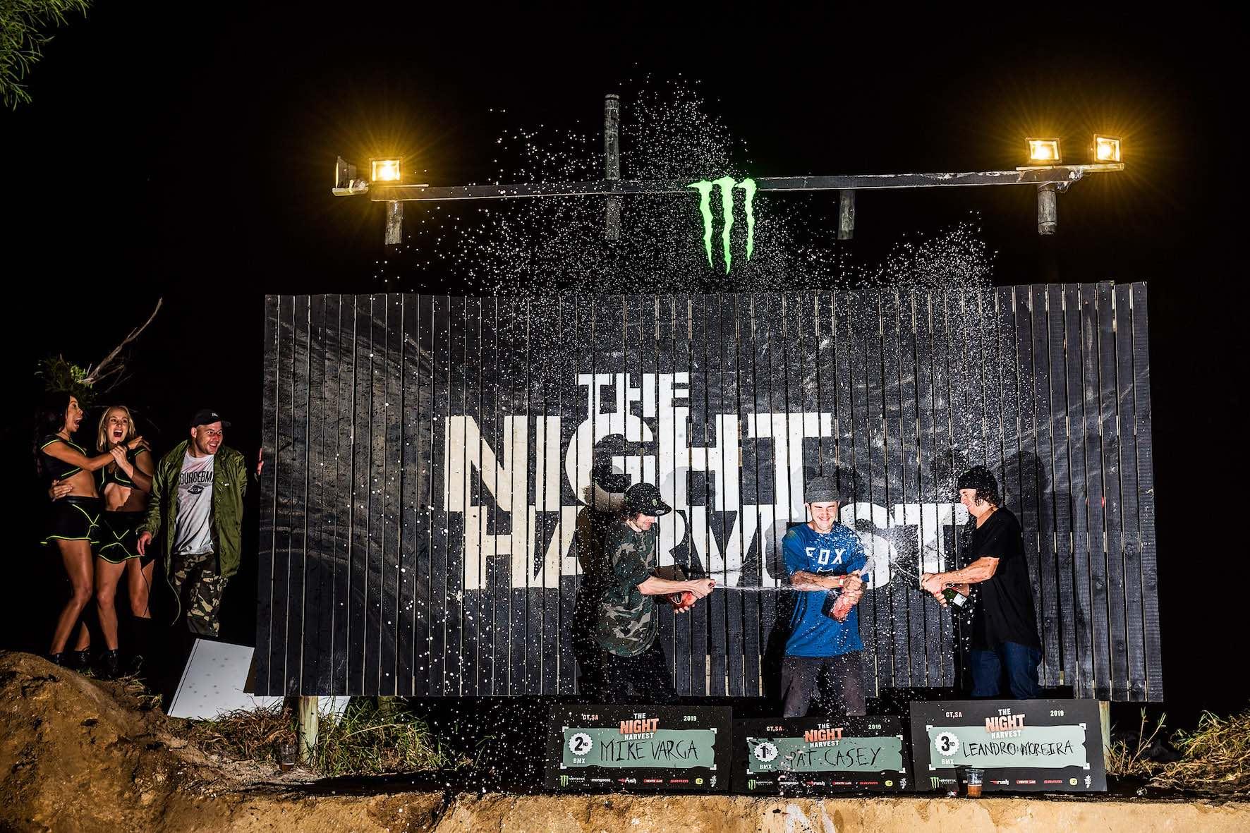 The Night Harvest 2019 BMX podium