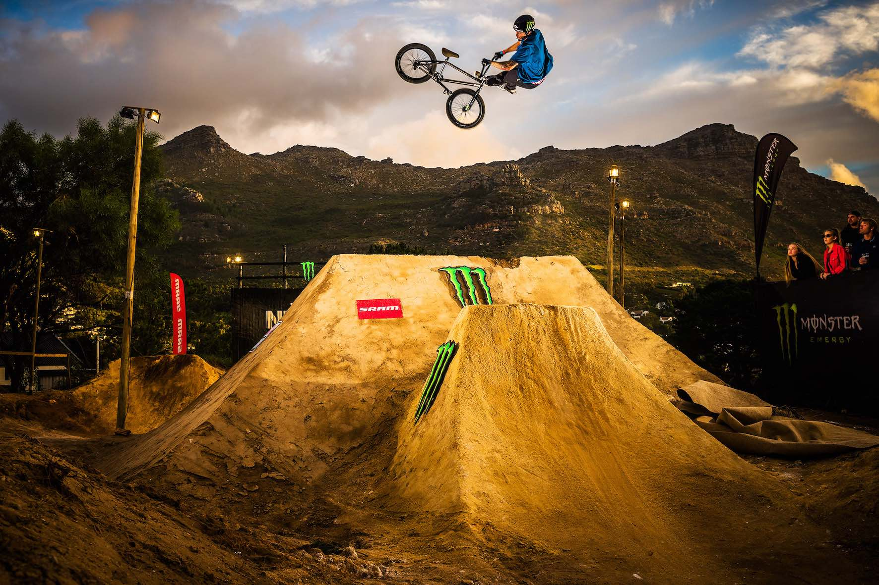 Pat Casey taking 1st place in The Night Harvest 2019 BMX dirt jump contest