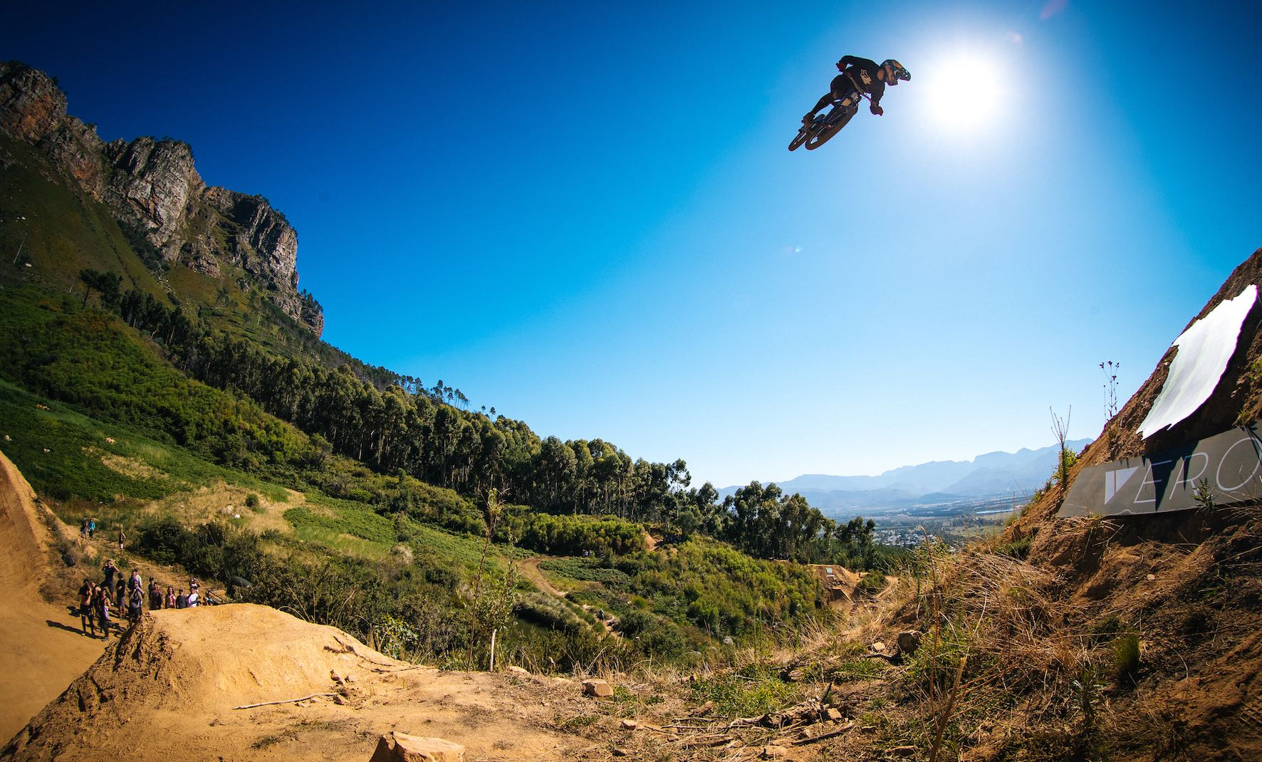 Andreu Lacondeguy riding the 2019 DarkFEST Freeride MTB course