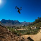 Matt Macduff riding the Darkest 2019 Freeride Mountain Bike course