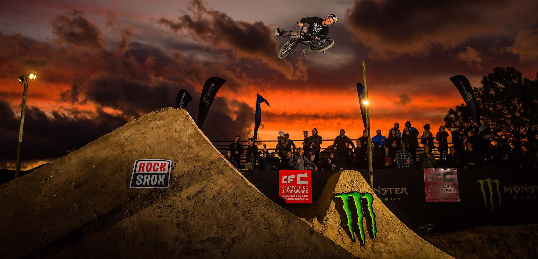 Murray Loubser representing the BMX division at The Night Harvest 2019