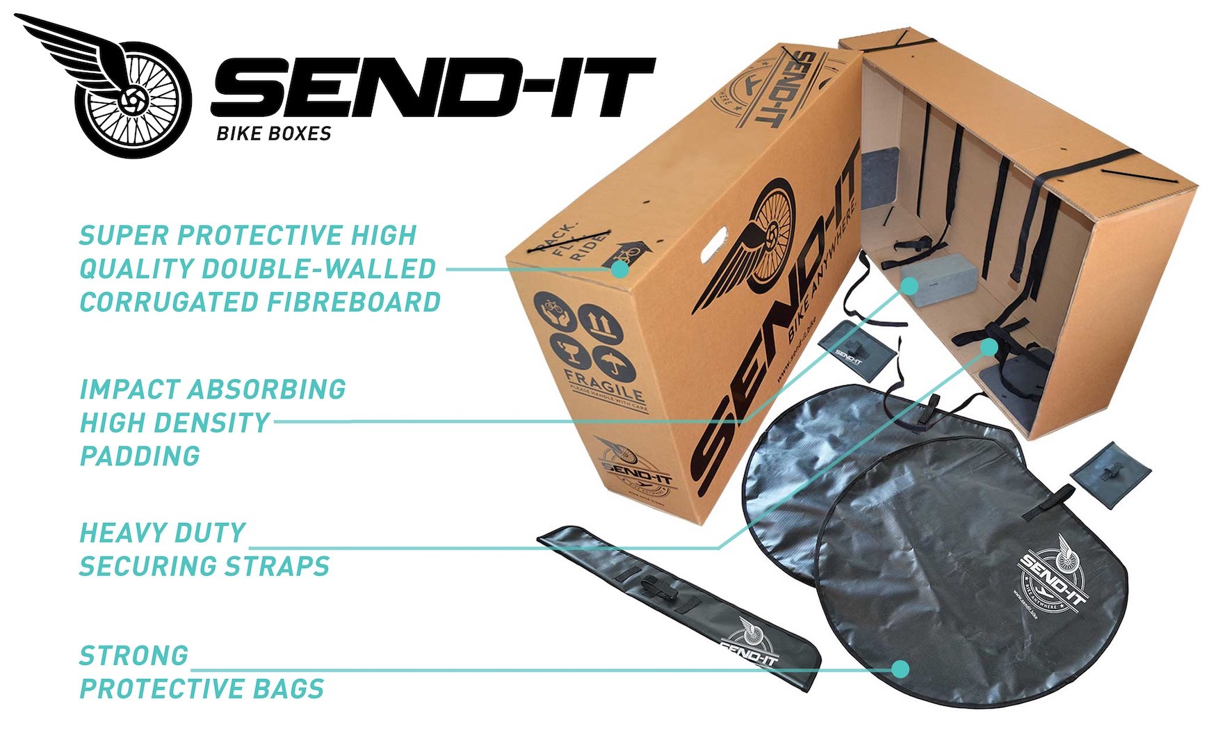 Key features of the SEND-IT Bike Box