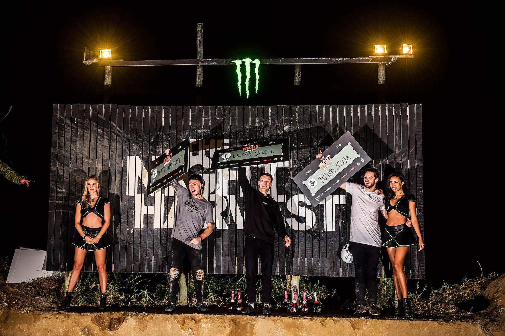 The Night Harvest 2019 MTB podium