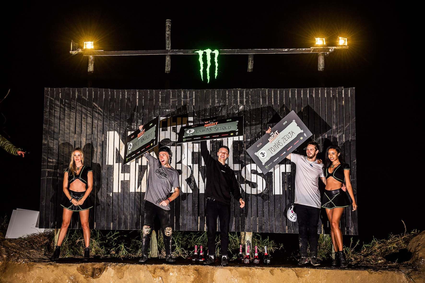 The Night Harvest 2019 MTB podium