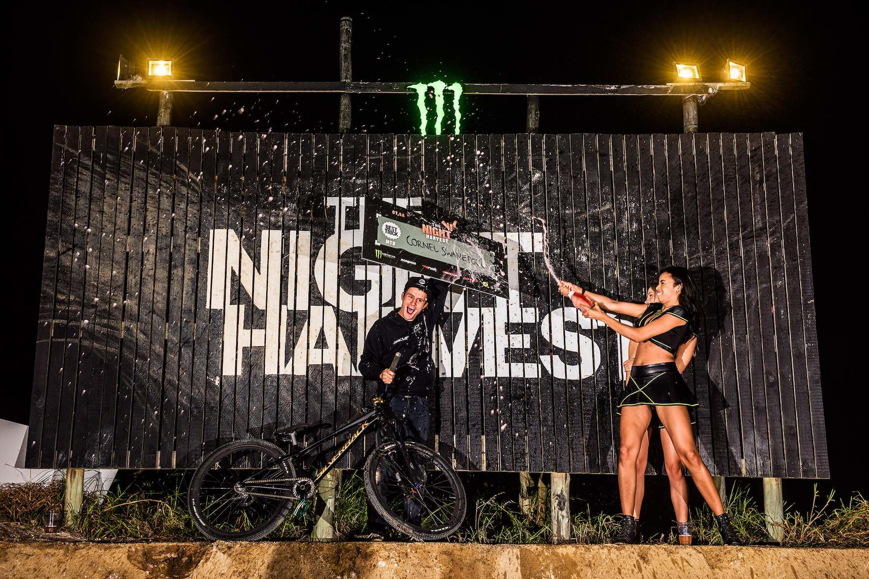 The Night Harvest MTB Best Trick Podium