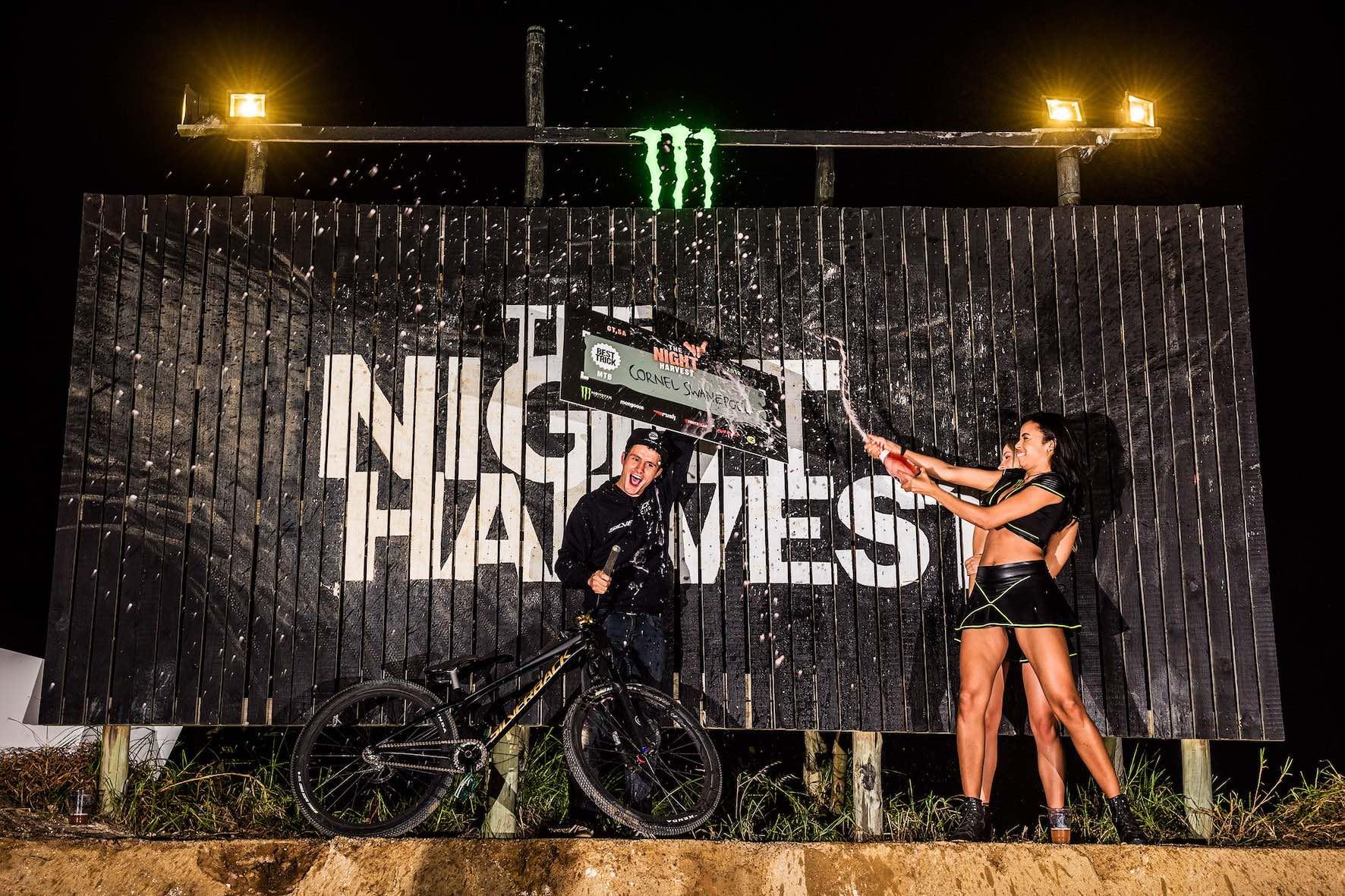 The Night Harvest MTB Best Trick Podium