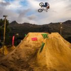 Leandro Moreira taking 3rd place in The Night Harvest 2019 BMX dirt jump contest