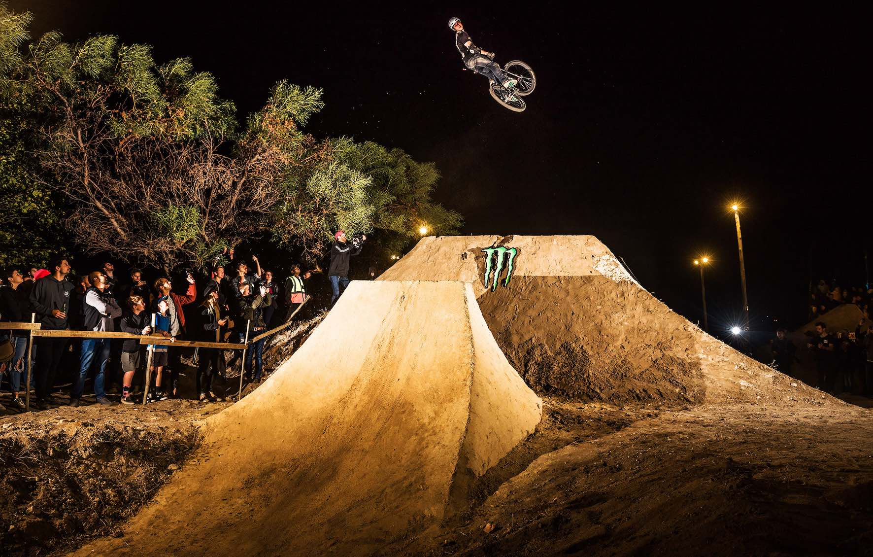 Cornel Swanepoel performing the 720 in the Night Harvest MTB Best Trick