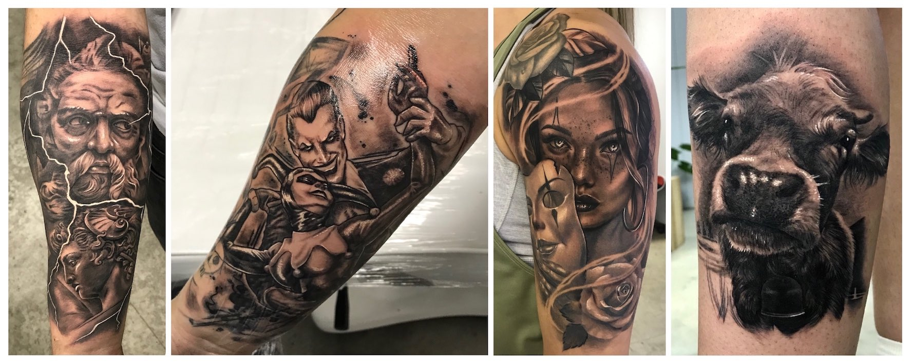 A selection of tattoos done by Lileen van den Berg