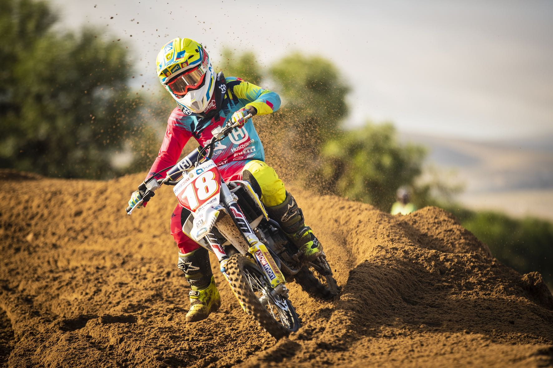 Niel van der Vyver racing the Motocross Nationals