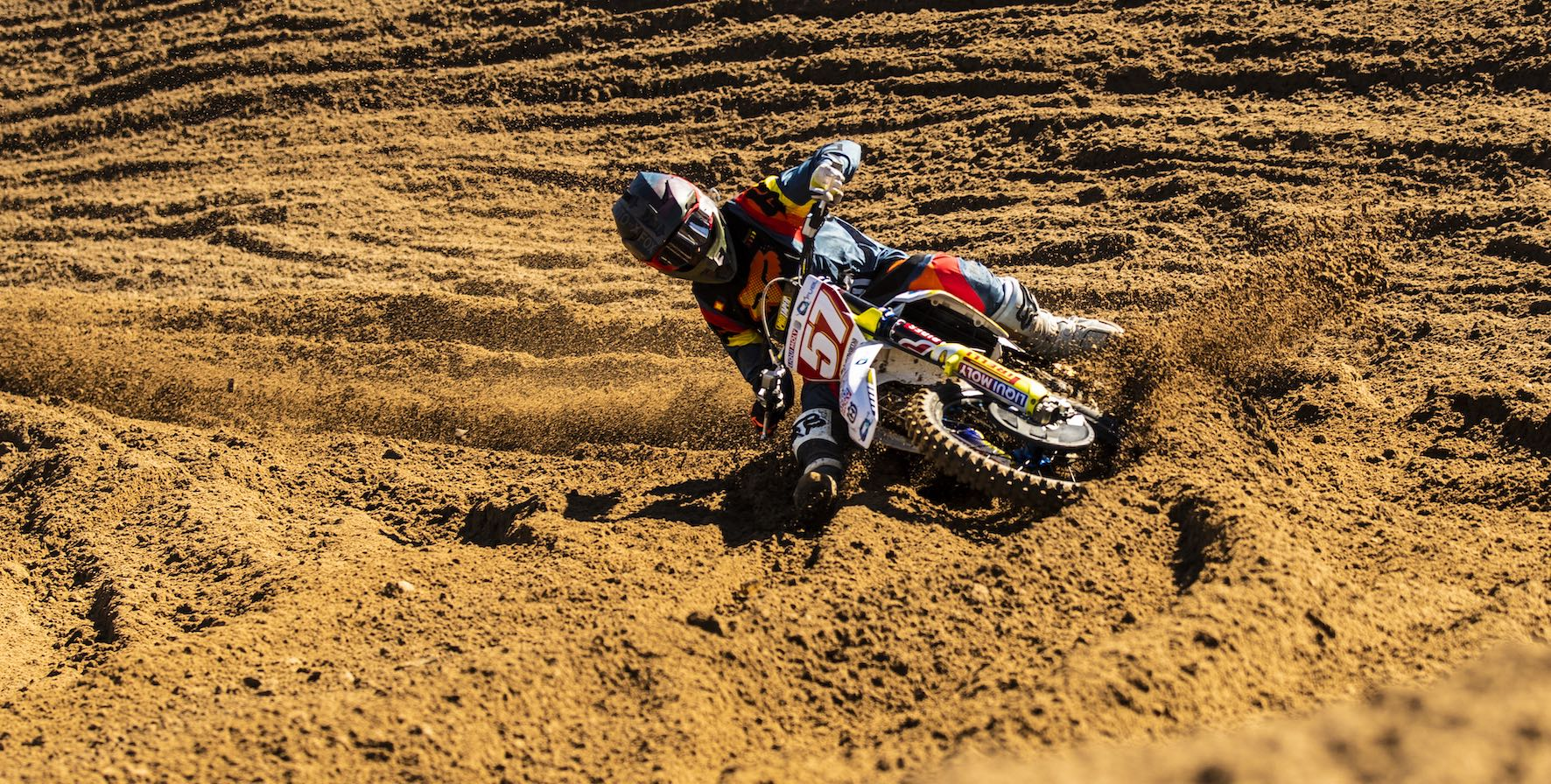 Maddy Malan racing round 2 of the 2019 MX Nationals