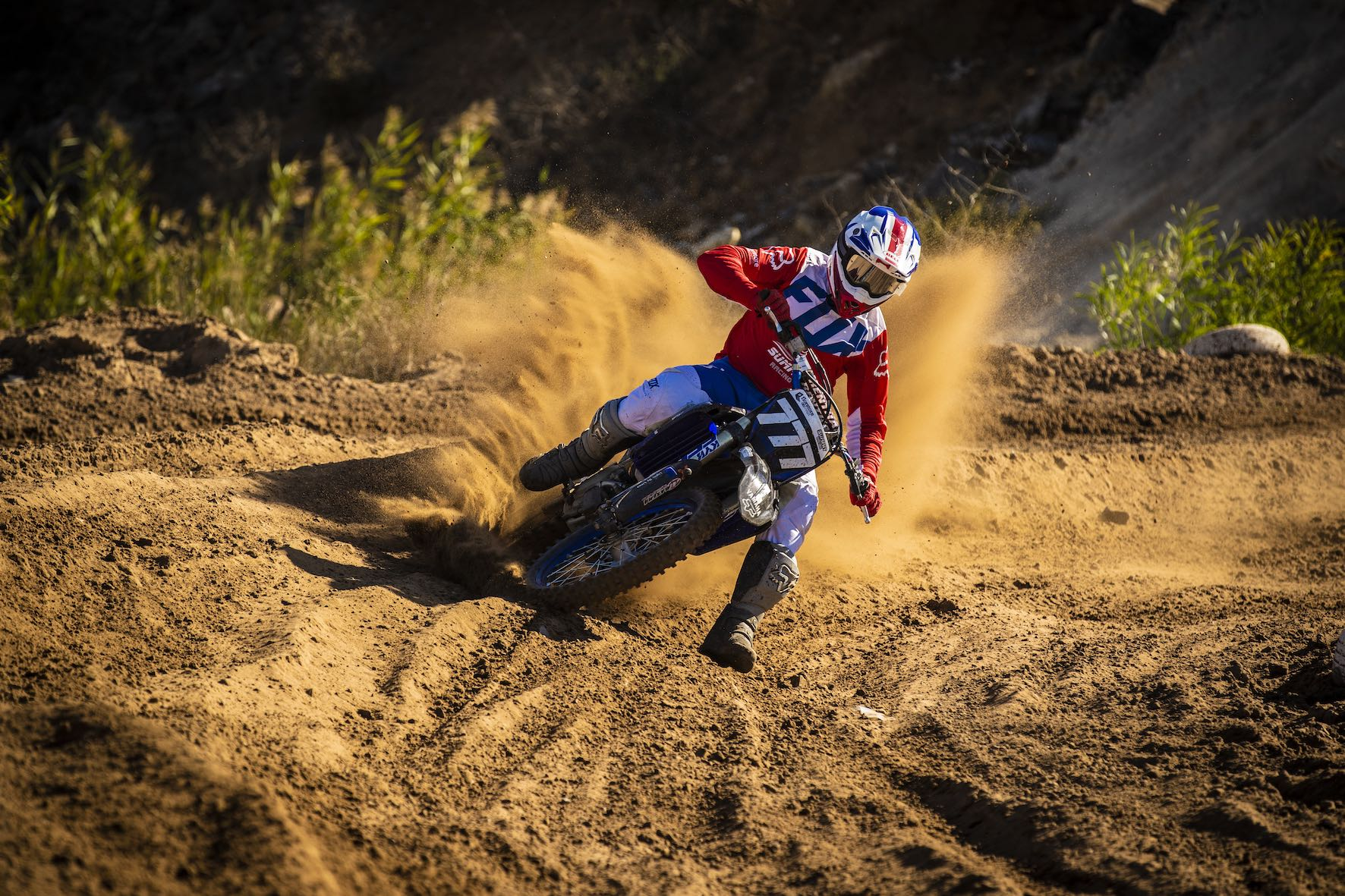 Lloyd Vercueil winning the MX1 Class at Round 2 of the 2019 TRP Distributors South African National Motocross Championship