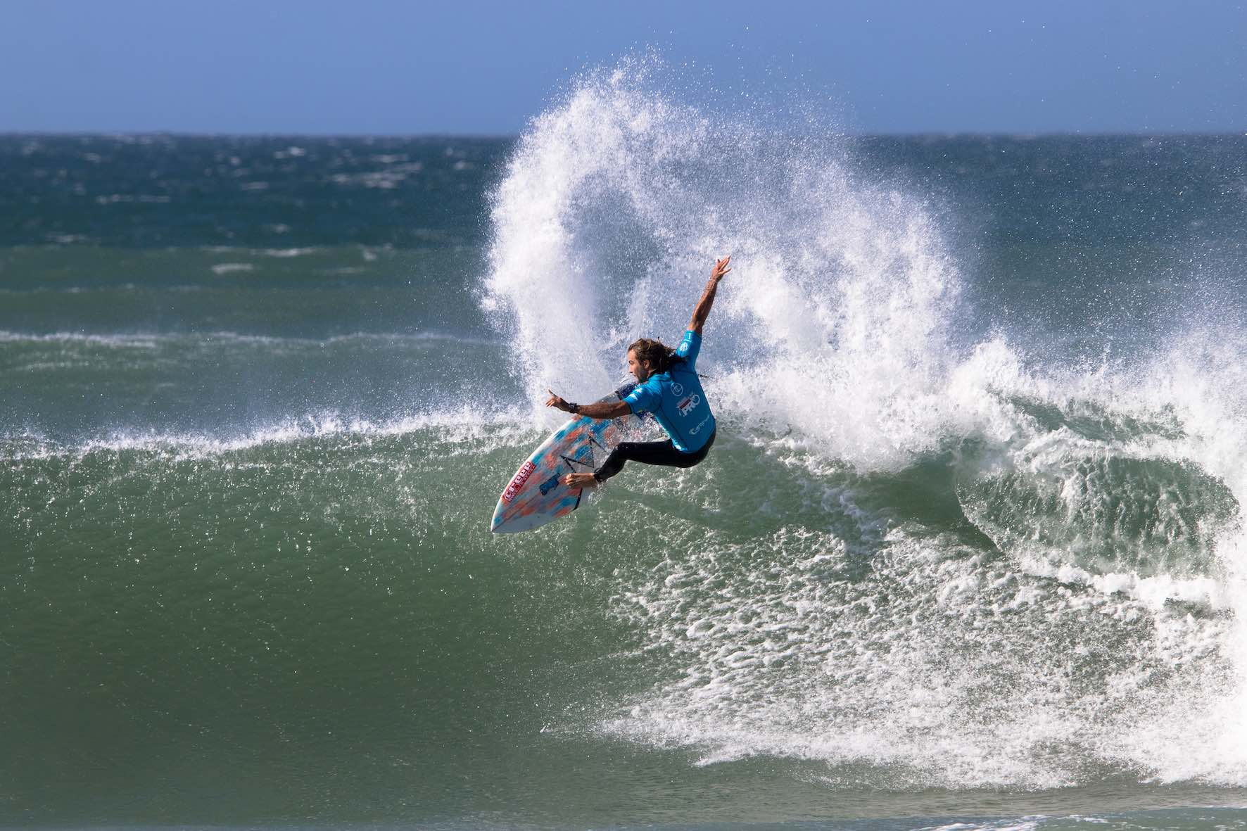 Chad Du Toit surfing in the Nelson Mandela Surf Pro 2019
