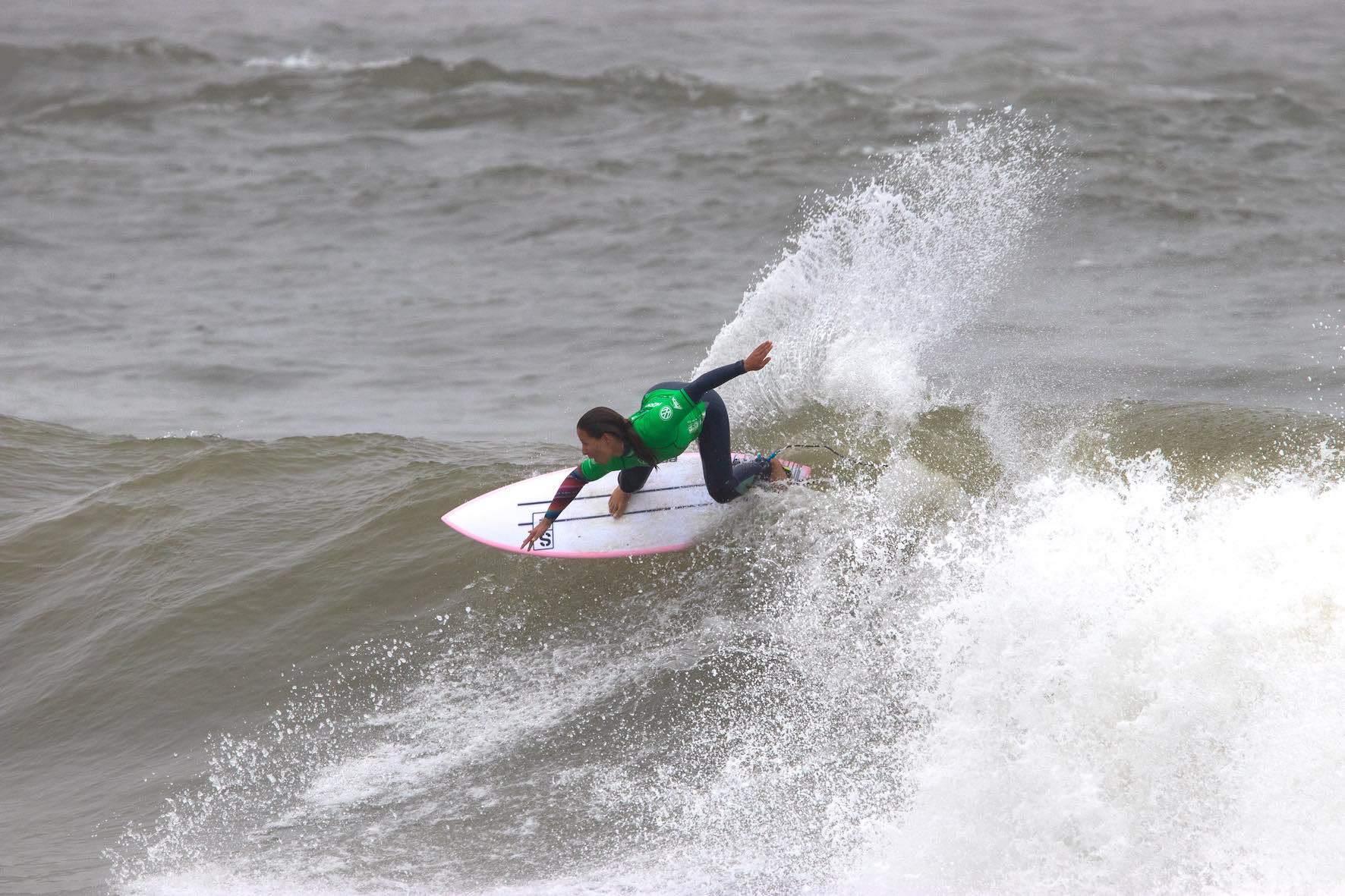 Ariane Ochoa surfing in the 2019 Royal St Andrews Hotel Port Alfred Surf Classic