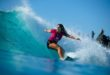 Caroline Marks surfing in the Quiksilver Pro and Boost Mobile Pro Gold Coast
