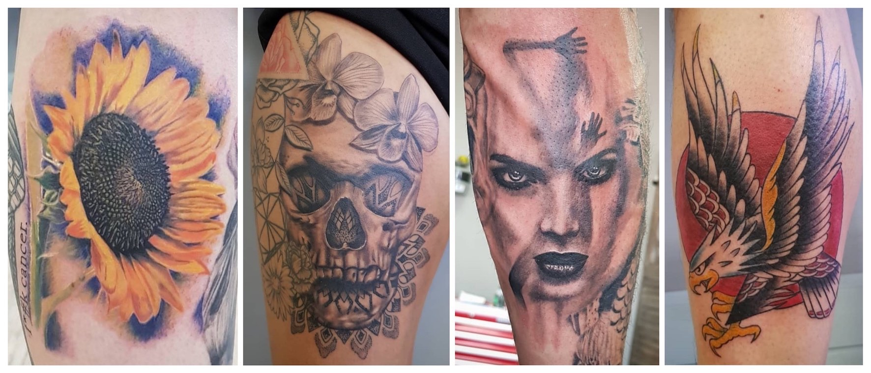 A selection of tattoos down by Tony Barcelos