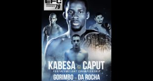 EFC 79 hits the Big Top Arena in Carnival City this Saturday, 4 May, and brings with it a mega title fight and 10 more exhilarating MMA bouts. See the full fight card here.